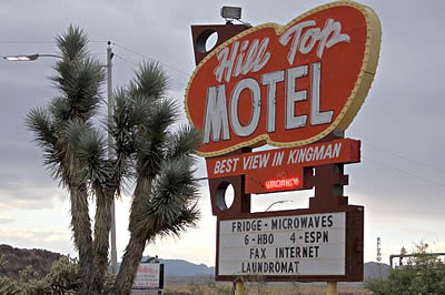 Hill Top Motel in Kingman Arizona